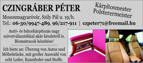 Czingráber Péter - Kárpitos mester