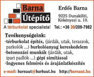 Barna Útépítő Kft.