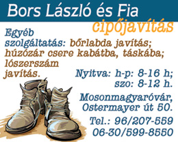 Bors László és Fia - cipőjavítás