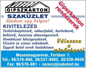 Norecz Gipszkarton Szaküzlet