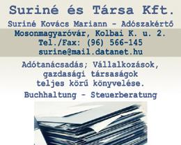 Suriné és Társa Kft. Suriné Kovács Mariann - Adószakértő