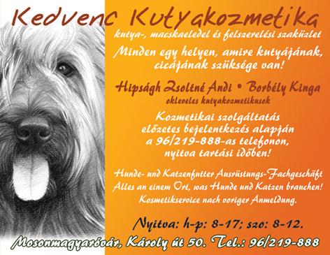 Kedvenc kutyakozmetika
