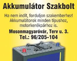 Akkumulátor Szakbolt